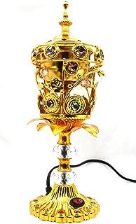 Electric Bakhoor Burner Electric Incense Burner Camphor- Oud Resin Frankincense Camphor Positive Energy Gift - WF064 - Golden