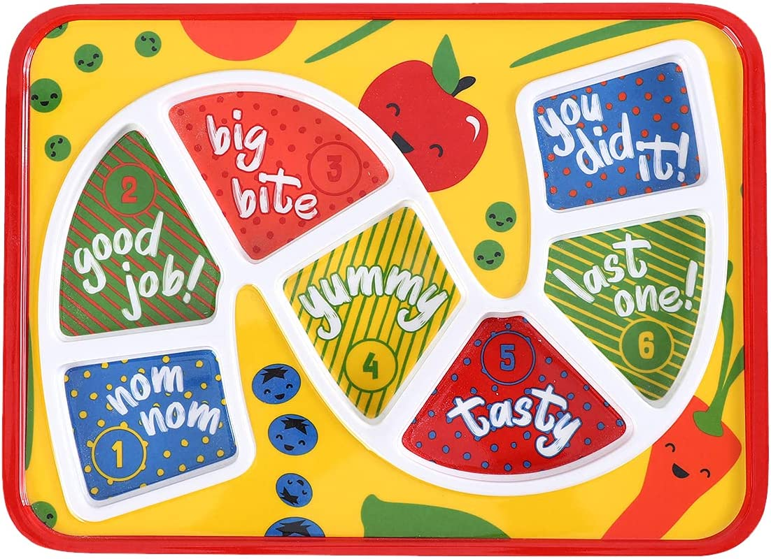 Kids Dinner Plate for Picky Eating Toddlers: Healthy Constructive Fun Meal Time, Divided Portions