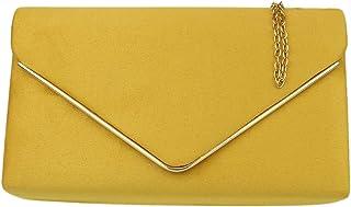 Girly Handbags Gamuza marco de la bolsa de embrague