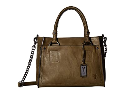 Frye Demi Satchel (Olive Antique Soft Vintage) Satchel Handbags