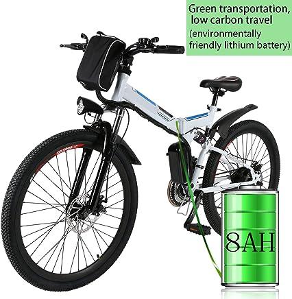 Bunao Bicicleta eléctrica de montaña, 250W, Batería 36V E-Bike Sistema de Transmisión