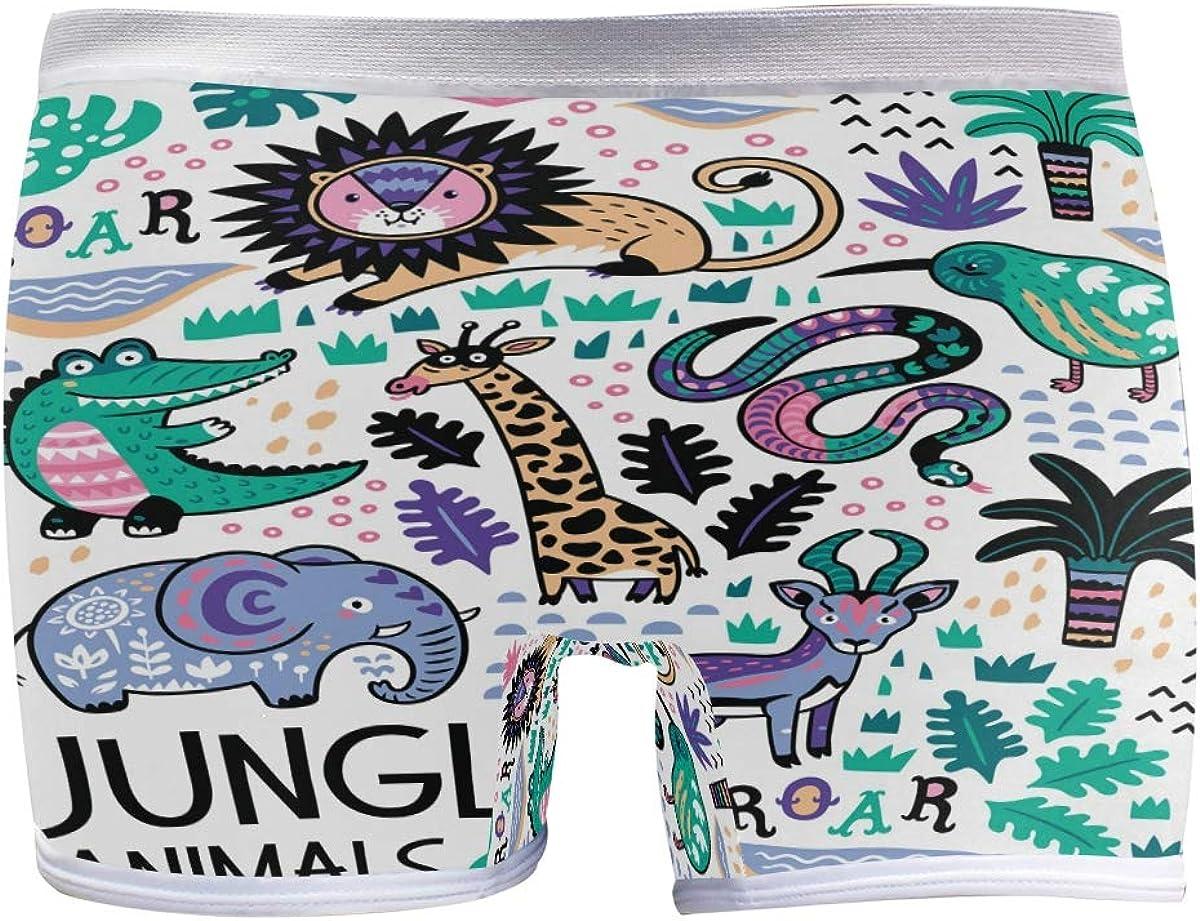 SLHFPX Ranking TOP8 Womens Underwear Boxer Briefs Animais Infantil L OFFicial site Da Selva