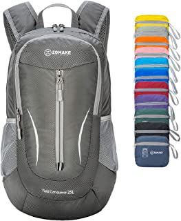 ZOMAKE Small Travel Backpack, 25L Lightweight Packable Backpack Foldable Hiking Daypack