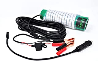 Green Blob Outdoors, Fishing Light, Underwater, with Extra Long 30ft Cord, Alligator Clips & Cigarette Lighter Adapters Included, LED, Fish Attractor, Snook, Crappie, Bass, Catfish Tarpon Shad Squid