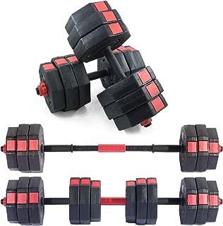 soges Adjustable Dumbbells Pair, Iron Sand Mixture Octagonal Designed, Anti Rolling Fitness Dumbbells HSYL001-30