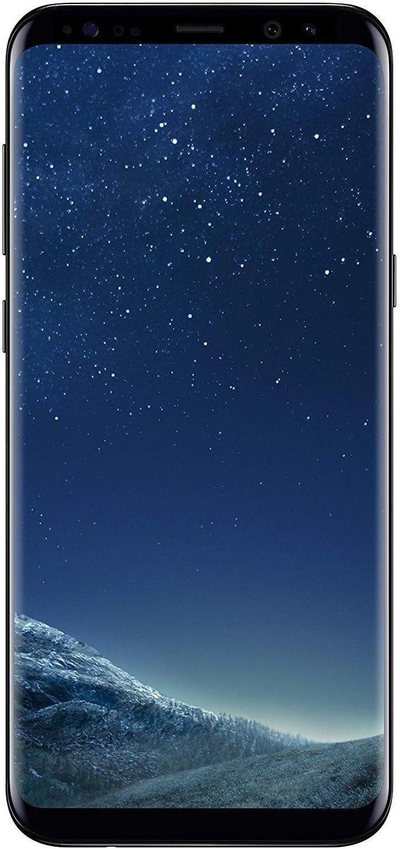 Samsung Galaxy S8+, 64GB, Midnight Black - For GSM (Renewed)