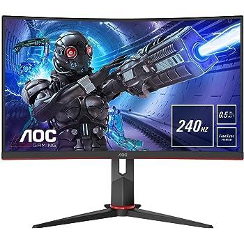 AOC Monitor C27G2ZU/BK - Pantalla para PC Gaming Curvo de 27