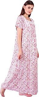 Himashu Handlooms Women's Cotton Maxi Nightgown
