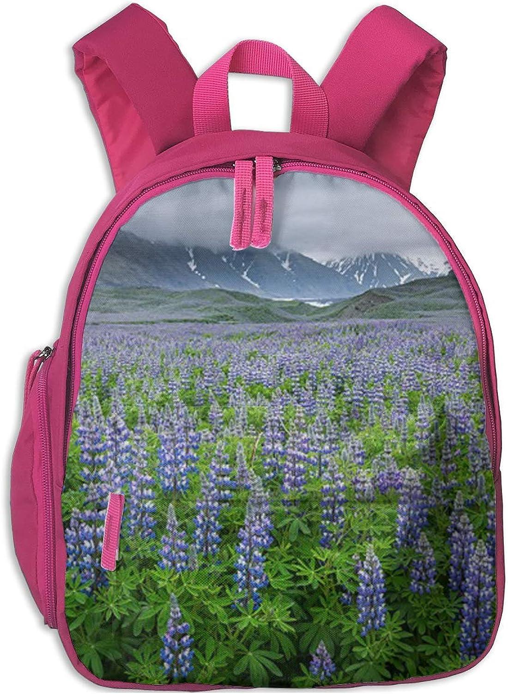 School School School Backpack for Girls Boys, Kids Cute Alpine Lavender Cartoon Backpacks Book Bag B07M5ZRRZ2  Aktuelle Form e4f19a