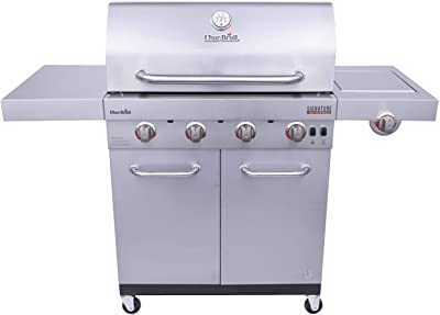 Char-Broil 463255020 Signature TRU Infrared 4-Burner Cabinet Style Gas Grill, Stainless Steel