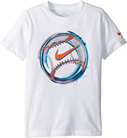 Nike Kids Brush Baseball Cotton Tee (Little Kids)