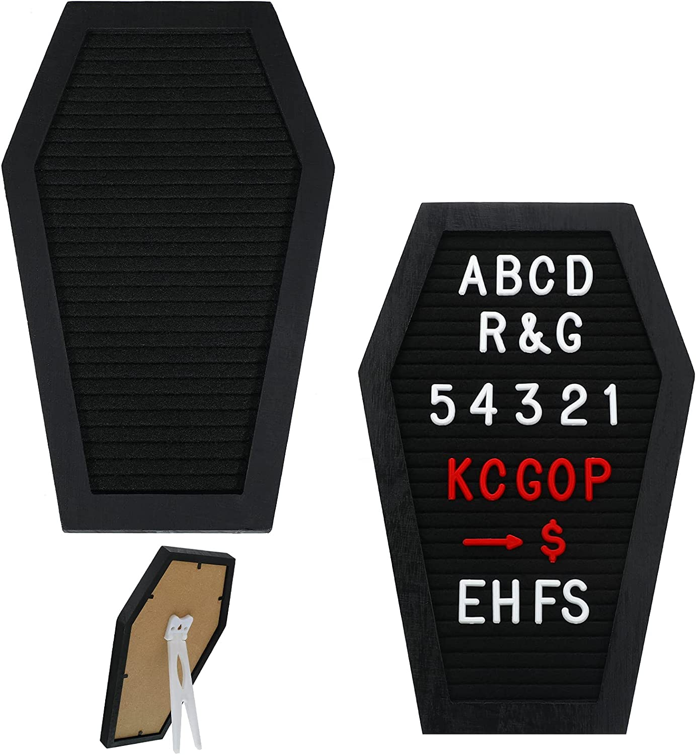 Qeeenar 2 Pieces Black Felt Letter Special price for a limited time Coffin Challenge the lowest price Board Changeable