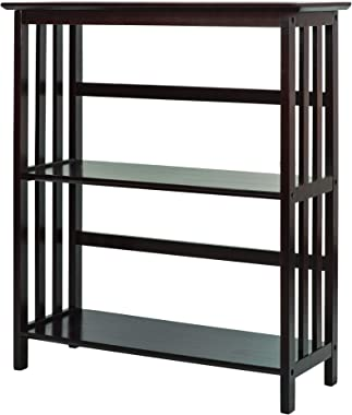 Casual Home Mission Style 3-Shelf Bookcase