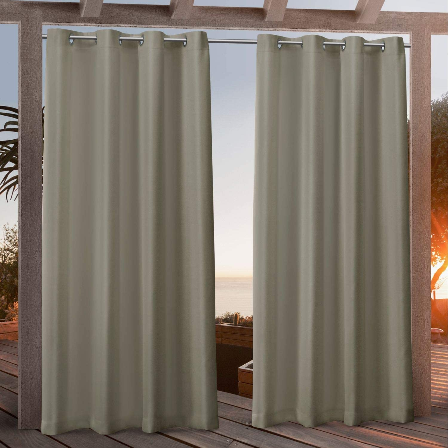 Exclusive Home gift Curtains Canvas Max 75% OFF Indoor Outdoor Curtai Grommet Top