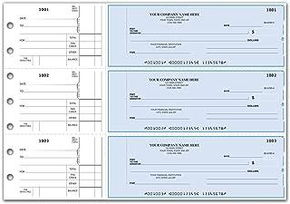 CheckSimple 3-Per-Page Multi-Purpose Manual Business Checks w/Side Stubs (50 Checks) - Custom
