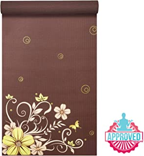 """Prosource Fit Yoga Mats 3/16"""" (5mm) Thick for Comfort & Stability with Exclusive Printed Designs"""
