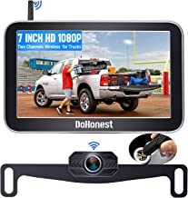 Wireless Backup Camera for Trucks Car Pickup Camper Van with 7 Inch Monitor System, DoHonest HD 1080P Bluetooth Backup Cam...