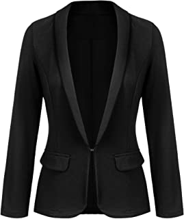 Women's Work Office Blazer Long Sleeve Classic Open Front Jacket Suit