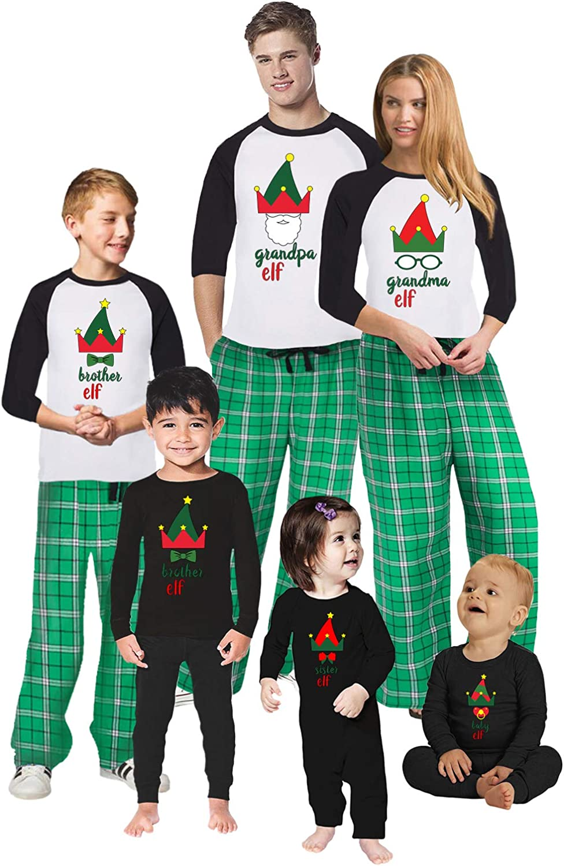 Awkward Styles Christmas Pajamas for Family Xmas Elf Grandma Grandpa Matching Christmas Sleepwear Men PJ Set Style 6 XL