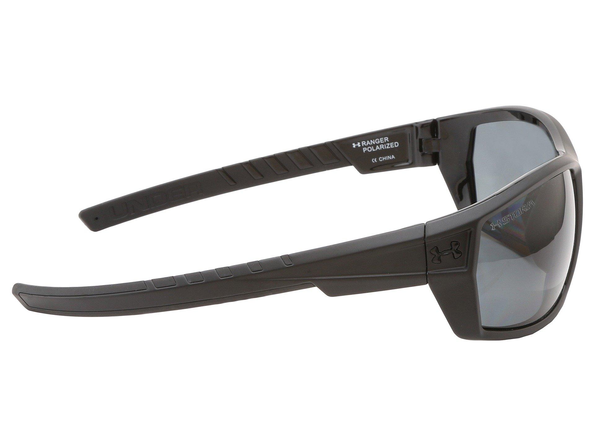 dca8e0d209a ... Captain Storm Fishing Glasses Satin Black Blue Lens. Under Armour UA  Ranger Storm at Zappos.com