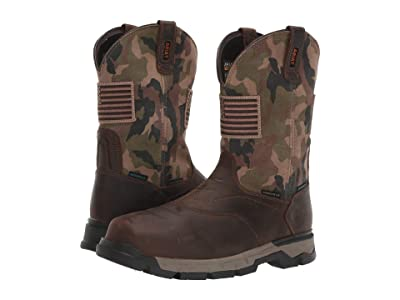 Ariat Rebartm Flex Western Patriot H2O Composite Toe (Brown/Camo) Men