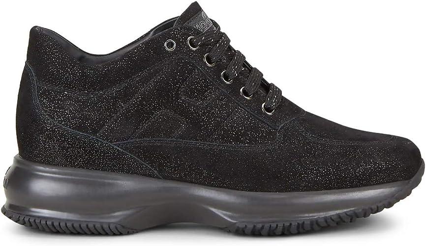 Hogan Interactive Scarpe da Donna Sneakers Running Sportive HXW00N00010LEZB999 Nere Comode Casual