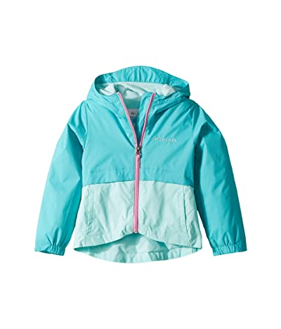 Columbia Kids Rain-Zillatm Jacket (Little Kids/Big Kids) (Geyser/Gulf Stream/Orchid) Girl