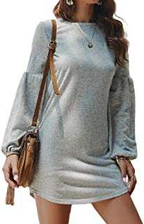 Howely Womens Knit Long Sleeves Casual Dresses Pullover Sweater