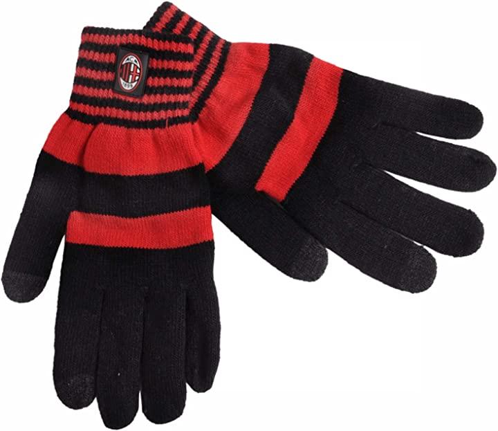 Guanti touch screen ac milan unisex, rossonero, xl 141523