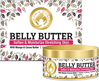 Mom & World Belly Body Butter with Mango and Cocoa for Stretch Marks Tummy, 100 gm