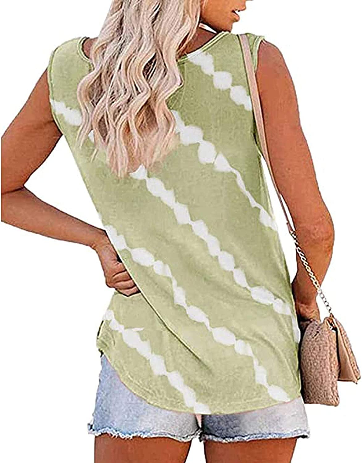 AOKASII Plus Size Tank Tops for Women,V Neck Tank Tops Casual Shirts Sleeveless Tunic Tops Blouse Summer Vests