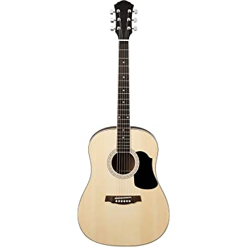 AmazonBasics Beginner Full-Size Acoustic Guitar with Strings, Picks, Tuner, Strap, and Case - 41-Inch, Spruce and Basswood