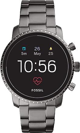 Fossil Men's Gen 4 Explorist HR Stainless Steel Touchscreen Smartwatch, Color: Smoke Grey (Model: FTW4012)