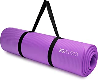 KG Physio Premium yogamat, gymnastiekmat, fitnessmat, trainingsmat of thuis met schouderriem 183 x 60 x 1 cm
