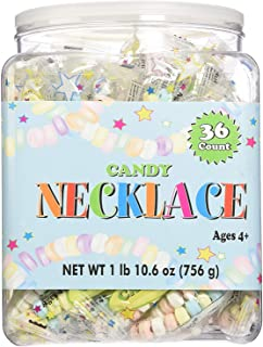 CANDY NECKLACE 36 count Tub,net wt 1 lb(10.6 oz) - pack of 3