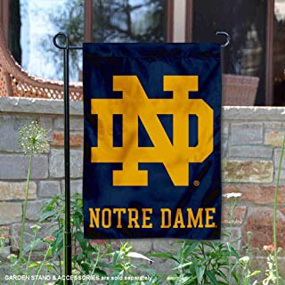 College Flags and Banners Co. Notre Dame Fighting Irish ND Logo Garden Flag