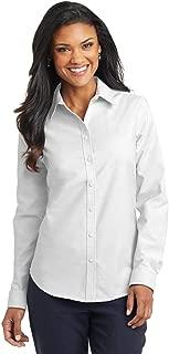 Port Authority Ladies Super Pro Oxford Shirt. L658 - White L658 M