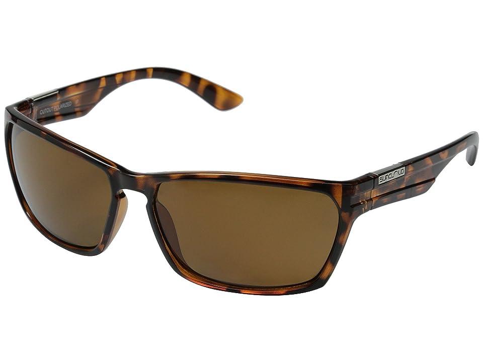 SunCloud Polarized Optics Cutout Polarized (Tortoise Frame/Brown Polarized Polycarbonate Lenses) Fashion Sunglasses
