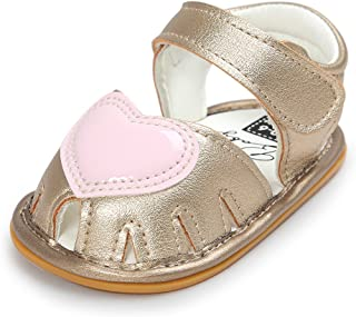 Greceen Infant Baby Girls Sandals Soft Closed Toe Princess Flat Shoes Summer Sandals