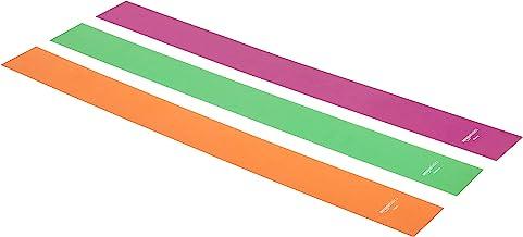 حزام مقاومة مطاط للتمارين تقنية تي بي اي من امازون بيسكس - 1500 ملم، مجموعة من 3 قطع
