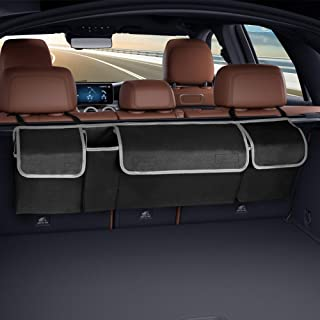 Manfiter Trunk Organizer for Car, Backseat Trunk Organizer Super Capacity Space Saving Expert Frees Up Your Trunk Floor, Hanging Organizer Keep Trunk Clean and Tidy for SUV, Hatchback, Minivan, Jeep