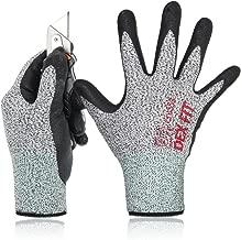 DEX FIT Level 5 Cut Resistant Gloves Cru553, 3D Comfort Stretch Fit, Durable Power Grip..