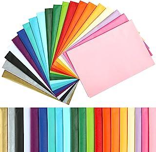 Naler 60pcs Papier de Soie Coloré, Assorties de Papier 50*35cm pour Artisanat, 20 Couleurs de Papier Cadeau Emballage Mult...