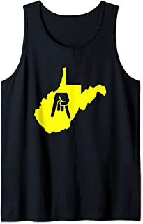 Horns Down West Virginia With State Tank Top