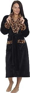 comprar comparacion CityComfort Bata de Estar por Casa Mujer Invierno con Capucha, Ropa de Dormir Suave Material Forro Polar Estampado Leopard...