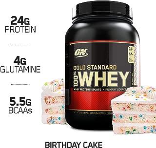 Optimum Nutrition Gold Standard 100% Whey Protein Powder, Birthday Cake, 2 Pound