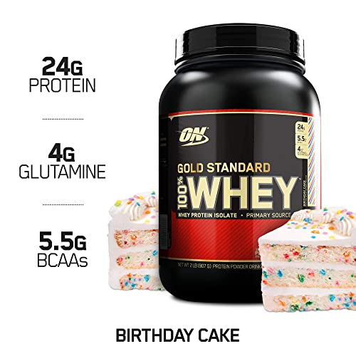 Optimum Nutrition Gold Standard 100 Whey Protein Powder Birthday Cake 2 Pound