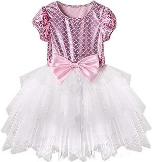Acecharming Mermaid Dress for Girls, Little Ariel Princess Costume Girls Fancy Party Dresses