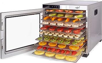 Deshydrateur Alimentaire Inox VITA5 • Déshydrateur Alimentaire 10 Plateaux • Desydratateur avec Minuteur (24H) • Deshydrat...