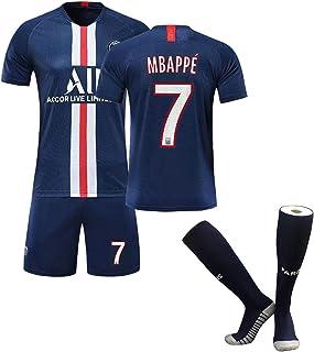 MBAPPE # 7 Soccer Jersey set, fransk professionell fotbollsspelare enhetlig kostym för män och barn, andningsbara t-shirts...